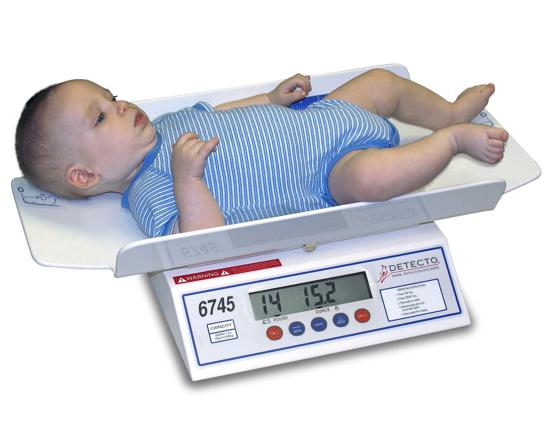 Electronic Baby Scale 6745 Detecto Scale With Lcd Display Table