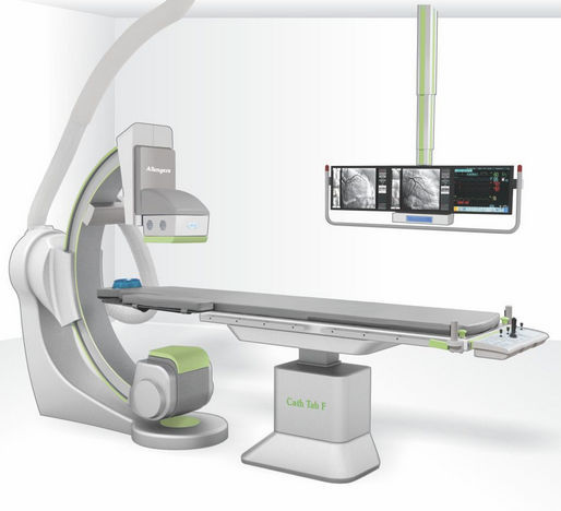 Fluoroscopy system / digital / for cardiovascular fluoroscopy / with  floor-mounted C-arm ALTIMA Allengers Medical Systems