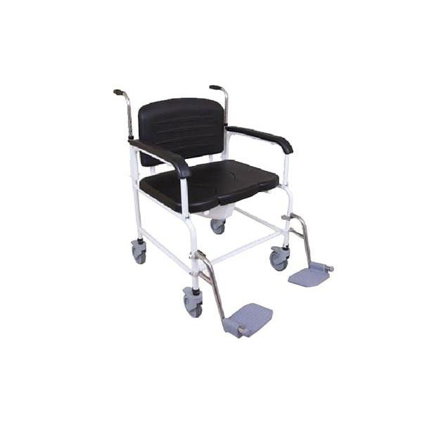 Strange Shower Chair With Armrests On Casters With Footrest Frankydiablos Diy Chair Ideas Frankydiabloscom