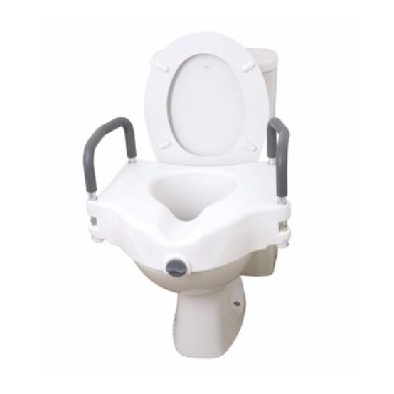 Pleasing Raised Toilet Seat With Armrests 12027Ra Drive Devilbiss Europe Pdpeps Interior Chair Design Pdpepsorg