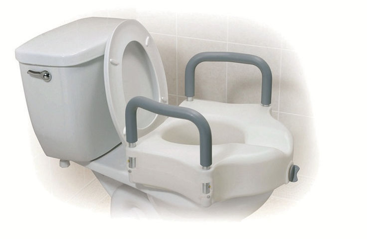 Awesome Raised Toilet Seat With Armrests 12027Ra Drive Devilbiss Pdpeps Interior Chair Design Pdpepsorg