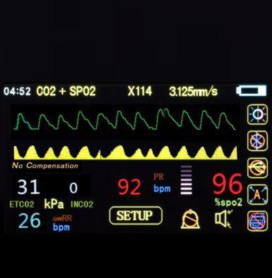 Respiratory rate patient monitor / EtCO2 / SpO2 / intensive