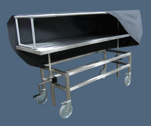 Transport trolley / mortuary / stainless steel - 600039-C