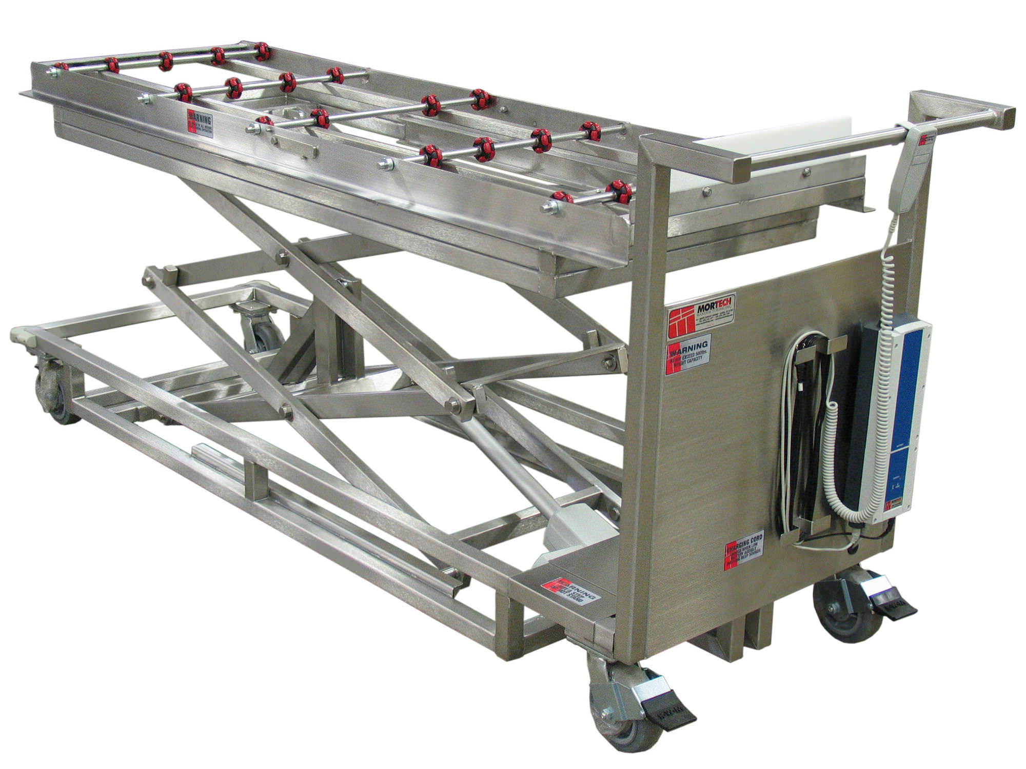 Mortuary trolley / loading / lifting / stainless steel