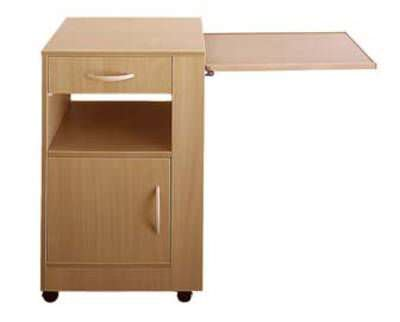 Bedside Table On Casters With Integrated Over Bed Palma Standard
