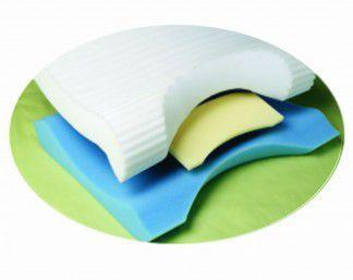 Support pillow / positioning / medical / visco-elastic foam