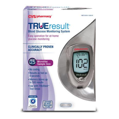 Wireless blood glucose meter TRUEresult® Trividia Health