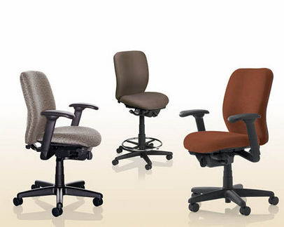 Office chair / on casters / with armrests / ergonomic