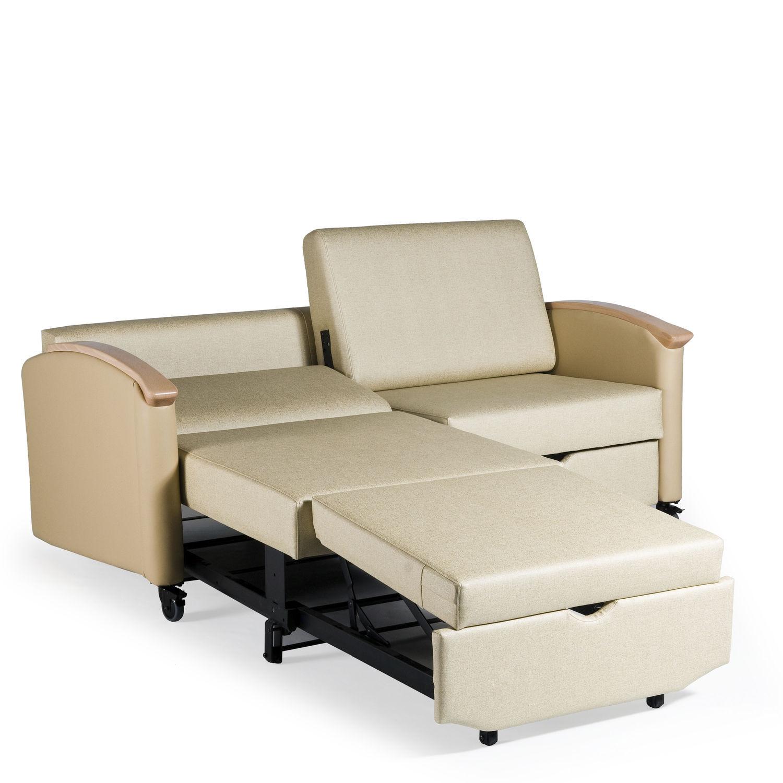 2 seater sofa bed for healthcare facilities HARMONY HA2821L