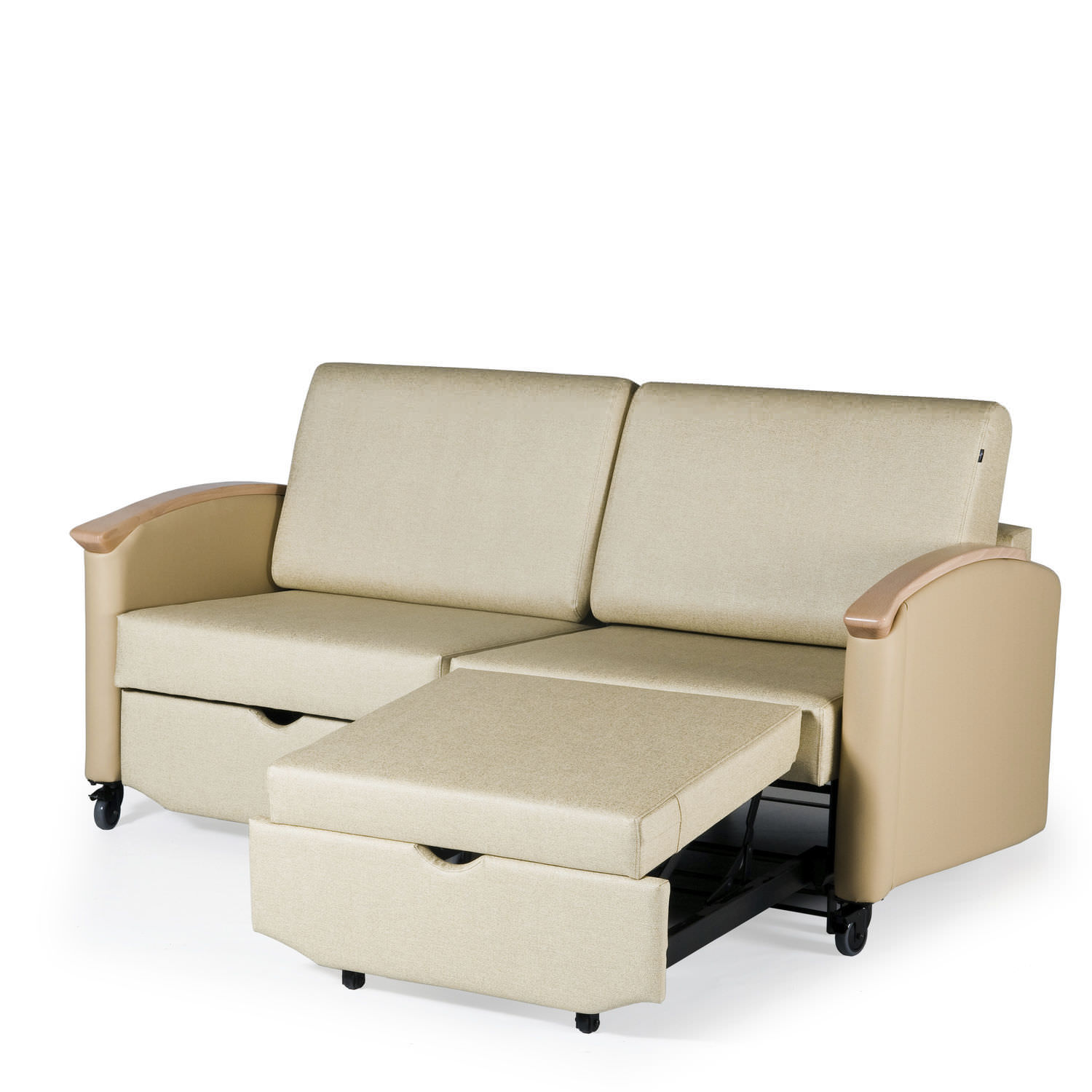 2 seater sofa bed for healthcare facilities HARMONY HA2821L