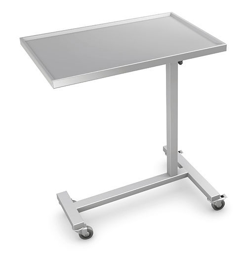 Instrument Table With Shelves On Casters Height Adjule Stainless Steel