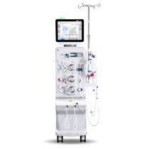 Hemodialysis machine with hemodiafiltration