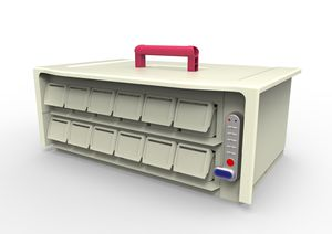 medication container / handling / with drawers