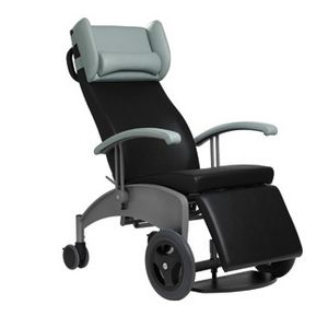 electric patient transfer chair / height-adjustable / tilting / on casters