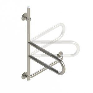 bathroom grab bar / wall-mounted / folding / stainless steel