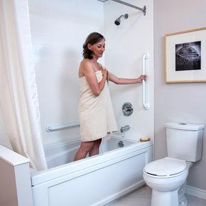 bathroom grab bar / wall-mounted / stainless steel