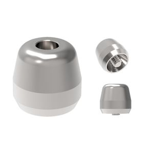 anatomical healing abutment / titanium / internal hexagon / conical