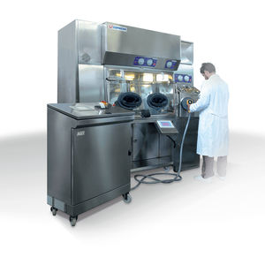 glove integrity tester / for laboratory isolators / trolley-mounted / automatic