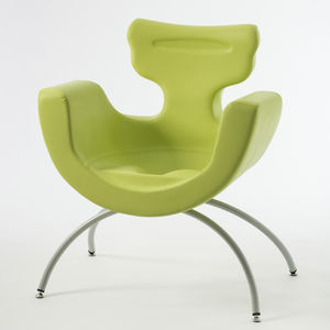 ergonomic patient chair / pediatric / breastfeeding / leather