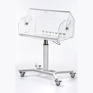 co-sleeping hospital bassinet / height-adjustable / metal / on casters