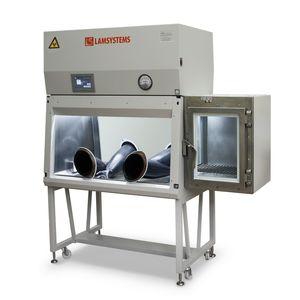 class III biological safety cabinet / floor-standing / laminar flow / glove box