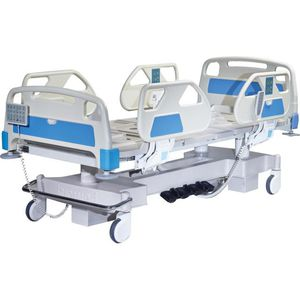 intensive care bed / electric / height-adjustable / tilting