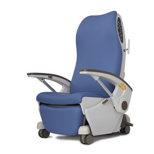 reclining patient chair / on casters / with legrest / ergonomic