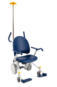indoor transfer chair / ergonomic / with adjustable backrest / with IV pole