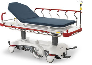 transport stretcher trolley / electric / X-ray transparent / 2 sections