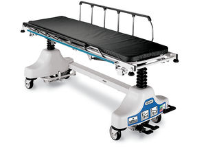 transport stretcher trolley / pneumatic / height-adjustable / X-ray transparent