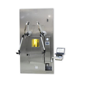 dispensing shielded cell / for nuclear medicine / vertical laminar flow / with HEPA filter