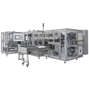 automatic packaging machine / floor-standing / for the pharmaceutical industry / for the medical industry