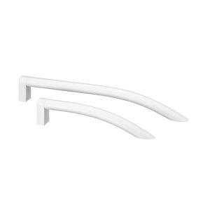 hospital door handle / aluminum / antibacterial / sanitizing
