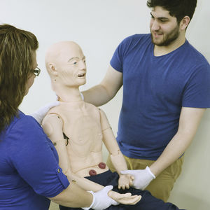 geriatric training manikin / nursing care