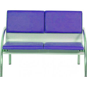 waiting room beam chair / with armrests / 2-person