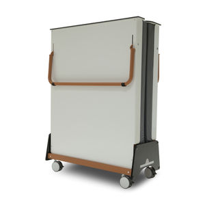 visitor bed / manual / folding / on casters