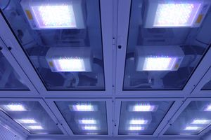 laboratory light / LED / fluorescent / ceiling-mounted