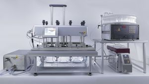 dissolution testing system / for tablets / benchtop / semi-automatic