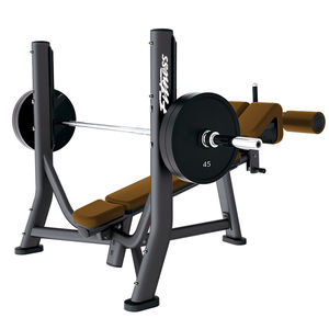 inverted weight training bench / with barbell rack
