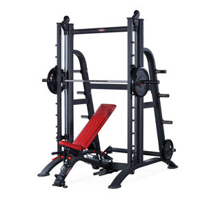 adjustable weight training bench / with Smith machine