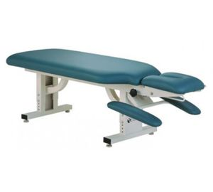 manual chiropractic table / height-adjustable / 2-section