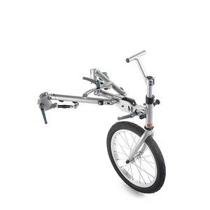 mechanical wheelchair drive unit / front