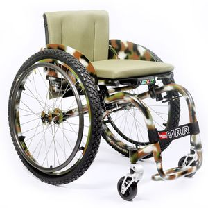 active wheelchair / outdoor / with legrest / folding