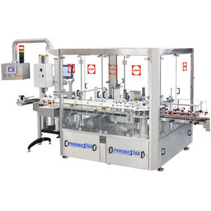 rotary labeling machine / bottle / high-speed / in-line