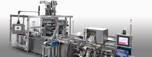 VFFS packaging system / servo-driven / floor-standing / compact