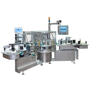 bottle labeling machine / for drugs / for conveyor belts / automatic
