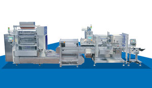 stickpack packaging system / fully-automatic / floor-standing / line-type