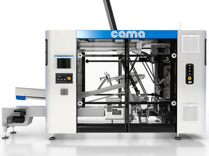 continuous-motion packaging system / floor-standing / vertical / for the medical industry