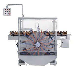 bottle cleaning machine / for the pharmaceutical industry / air-jet / automated