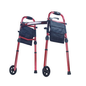 height-adjustable walker / folding / 2-wheel